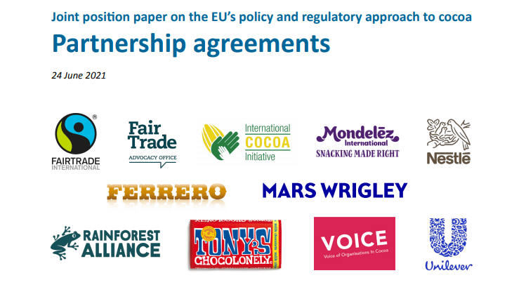 Read more about the article Joint position paper on the EU's policy and regulatory approach to cocoa Partnership agreements